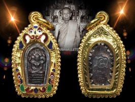 #T906 – LP Toh Wat Pradoochimplee – Phra Naprok BaiMai Kham Lang Yant Na (小7龙佛)