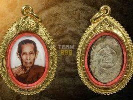 "#T1002 – LP Toh Wat Pradoochimplee – Locket LuangPu Toh ""Lai Sen"" Pim Roopkai Lek (自身法相 ""签名版"" 小椭圆形模 )"