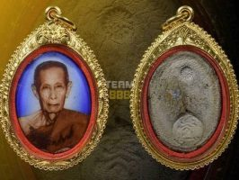 "#T1003 – LP Toh Wat Pradoochimplee – Locket LuangPu Toh ""Lai Sen"" Pim Roopkai (自身法相 ""签名版""椭圆形模 )"