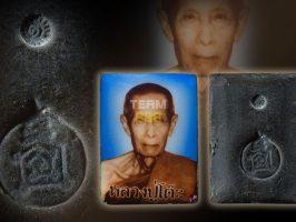 #T1124 – LP Toh Wat Pradoochimplee – Locket Luang Pu Toh Roon Raek 2nd Edition Pim Si Liam (自身法相第一期制作第二次 四方形模