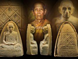 #T1097 – LP Toh Wat Pradoochimplee – Phra Phong Roob Muean Tao Reed Yai ( Block 3 自身粉牌烫斗形大模)